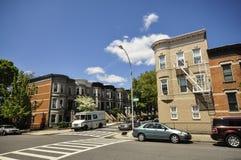 Wohnen in Brooklyn Stockfotos