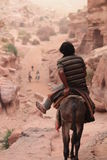 Wohnen Sie in Wadi Musa Stockbilder