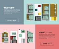 Wohnfahne für Webdesign Lizenzfreie Stockfotografie