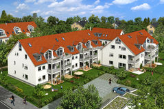 Wohngebäude stock abbildung