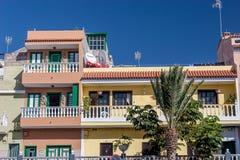 Wohngebäude Alcala Teneriffa stockbild