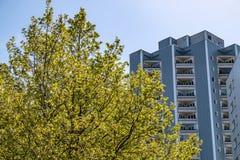 Wohngebäude in Berlin Marzahn, Deutschland lizenzfreie stockfotos