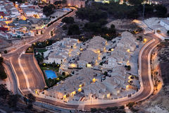 Wohngebäude in Cartagena, Spanien lizenzfreie stockfotos