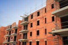 Wohngebäude im Bau Stockfotografie