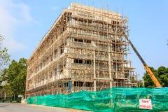 Wohngebäude im Bau Stockfoto