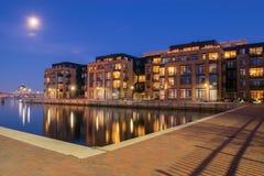 Wohngebäude im inneren Hafen-Bereich in Baltimore, Maryl stockfotos