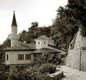 Wohngebäude-Königin Marie von Rumänien auf der Stadt Schwarzen Meers von Balchik in Bulgarien. Stockbild