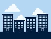 Wohngebäude-Schattenbilder Lizenzfreie Stockfotos