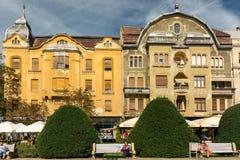 Wohngebäude-Stadtzentrum von Timisoara-Stadt Lizenzfreie Stockbilder