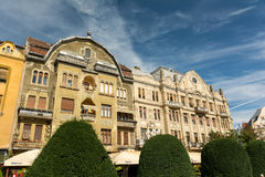 Wohngebäude-Stadtzentrum von Timisoara-Stadt Stockbilder