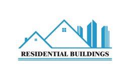 Wohngebäude-Vektorgrafikdesign vektor abbildung