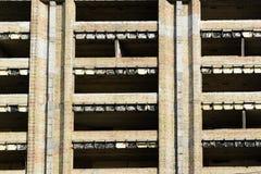 Wohngebäude in verlassener Stadt Ausschluss-Zone Lizenzfreie Stockbilder
