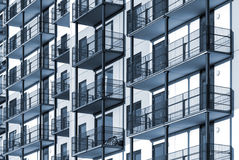 Wohngebäudehintergrund Colorized Stockfoto