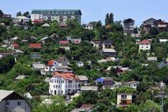Wohngebiet in den Bergen Lizenzfreie Stockfotos
