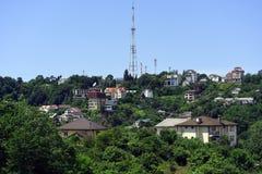 Wohngebiet in den Bergen Stockbild