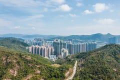 Wohngebiet in Hong Kong stockfotografie