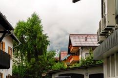 Wohngebiet in Oberstdorf, Deutschland Lizenzfreie Stockfotografie