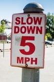 Wohngeschwindigkeits-Zeichen Stockbilder