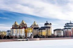 Wohnhäuser in Astana Lizenzfreie Stockbilder