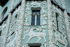 Wohnhaus des 19. Jahrhunderts in Moskau Stockbild