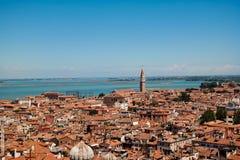 Wohnheime in Venedig stockbilder