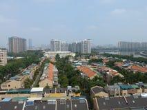 Wohnlandhäuser in Guangzhou, China Stockbild