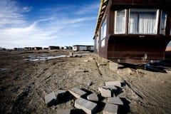 Wohnmobile verlassen Stockfotografie