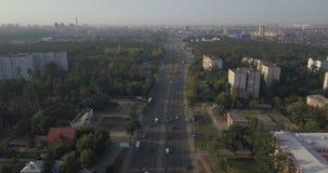 Wohnnachbarschaft bringt Bezirksvogelperspektive 4k 4096 x 2160 Pixel unter stock video