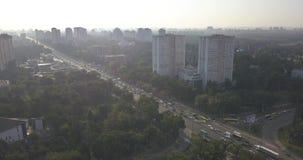 Wohnnachbarschaft bringt Bezirksvogelperspektive 4k 4096 x 2160 Pixel unter stock footage
