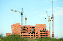 Wohnsiedlung im Bau Stockfotos