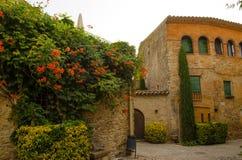 Wohnsitz im mittelalterlichen Schloss Lizenzfreie Stockbilder
