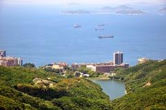 Wohnsitzbereich in der Seeküste von Hong Kong Stockbilder