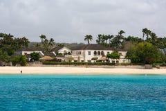 Wohnsitze vor der Küste von Barbados Stockbild