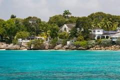 Wohnsitze vor der Küste von Barbados Stockbilder
