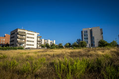 Wohnsitzzone in Sant Cugat Del Valles in Barcelona Lizenzfreies Stockbild