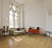 Wohnung der hohen Decke lizenzfreies stockbild