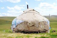 Wohnung des Nomaden in den Bergen von Kazakhstan Lizenzfreies Stockbild