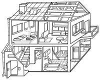 Wohnung-Haus Lizenzfreies Stockbild