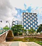 Wohnung im schönen Park Stockfotografie