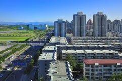 Wohnung, Peking-Skyline, China Lizenzfreie Stockfotos