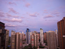Wohnungen in Benidorm Spanien Lizenzfreie Stockfotos