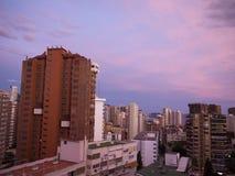 Wohnungen in Benidorm Spanien Lizenzfreies Stockfoto