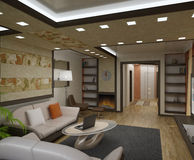 Wohnungen des Innenraums 3D Stockbilder