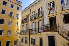Wohnungen im Alfama-Bezirk von Lissabon Portugal Lizenzfreie Stockfotografie