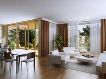 Wohnungen mit garden1 Stockbild
