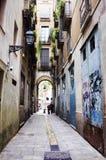Wohnungs-Haus in Barcelona. Lizenzfreies Stockbild