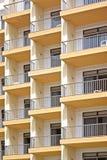 Wohnungsbalkone Stockfoto