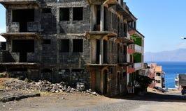 Wohnungsbau in Achada-Sao Filipe Stockfotos