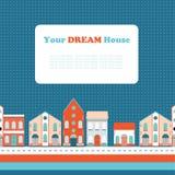 Wohnungsbau, Ausgangsnahtloses Hintergrundmuster Stock Abbildung