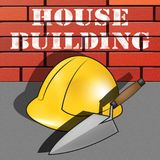 Wohnungsbau bedeutet Illustration des Wohnungsbau-3d vektor abbildung